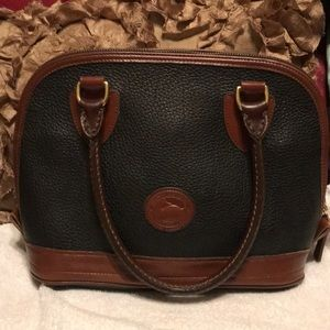 Vintage Dooney & Bourke Black/Brown Leather Bag